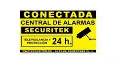 cartel de alarma de pvc