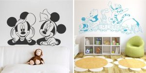 vinilo-infantil-mickey-minnie-disney